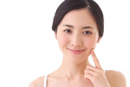 Asian woman skincare image
